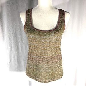 Sigrid Olsen Pastel Knit Metallic Sleeveless Shell